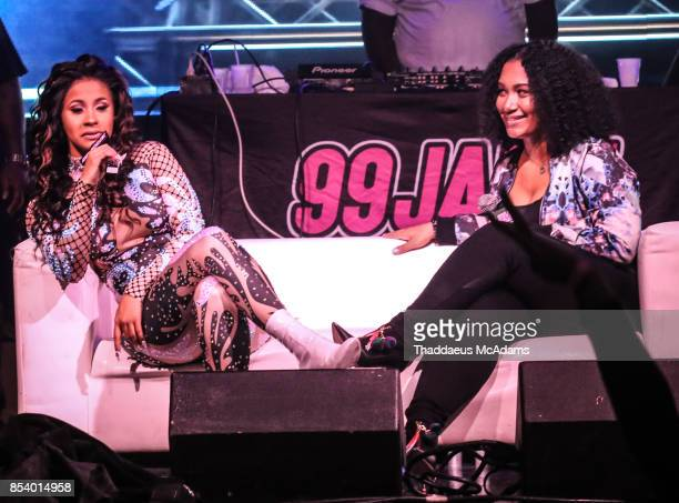 Cardi B and Felish Monet sit for an interview at Revolution Live on September 25 2017 in Fort Lauderdale Florida