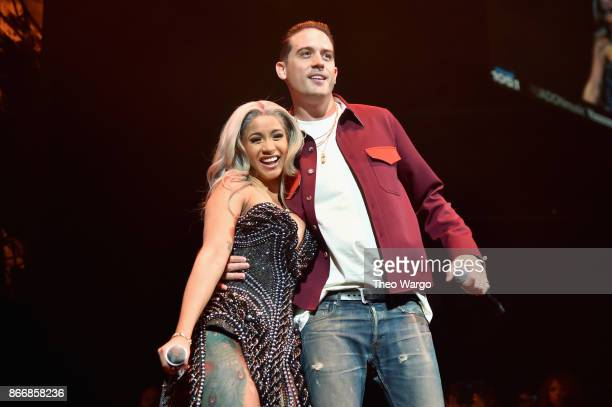 Cardi B and GEazy perform onstage during 1051's Powerhouse 2017 at the Barclays Center on October 26 2017 in the Brooklyn New York City City