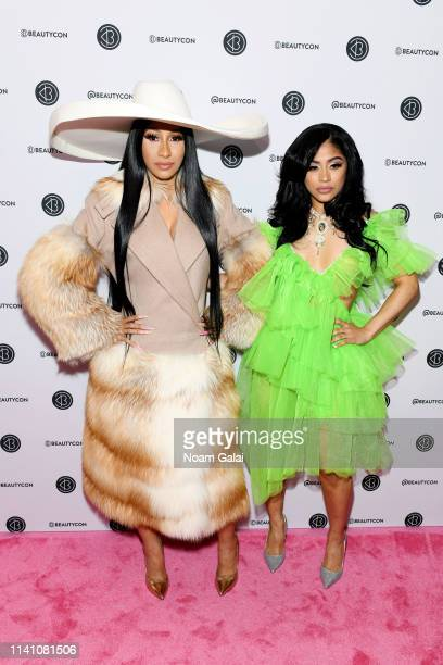 Cardi B and Hennessy Carolina attend Beautycon Festival New York 2019 at Jacob Javits Center on April 07 2019 in New York City