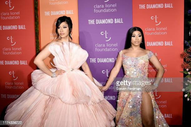 Cardi B and Hennessy Carolina attend Rihanna's 5th Annual Diamond Ball at Cipriani Wall Street on September 12 2019 in New York City