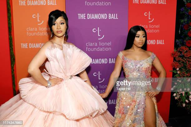 Cardi B and Hennessy Carolina attend the 5th Annual Diamond Ball benefiting the Clara Lionel Foundation at Cipriani Wall Street on September 12 2019...