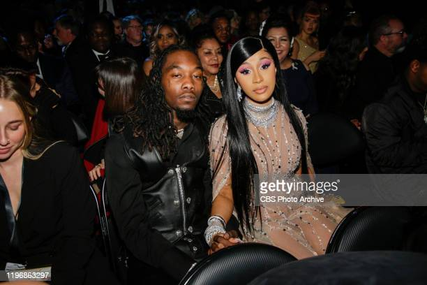 Cardi B and Offset appear at THE 62ND ANNUAL GRAMMY® AWARDS broadcast live from the STAPLES Center in Los Angeles Sunday January 26th on the CBS...