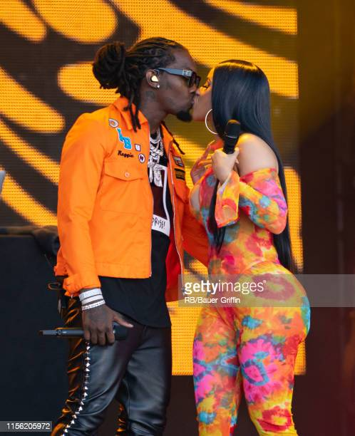 Cardi B and Offset are seen at 'Jimmy Kimmel Live' on July 17 2019 in Los Angeles California