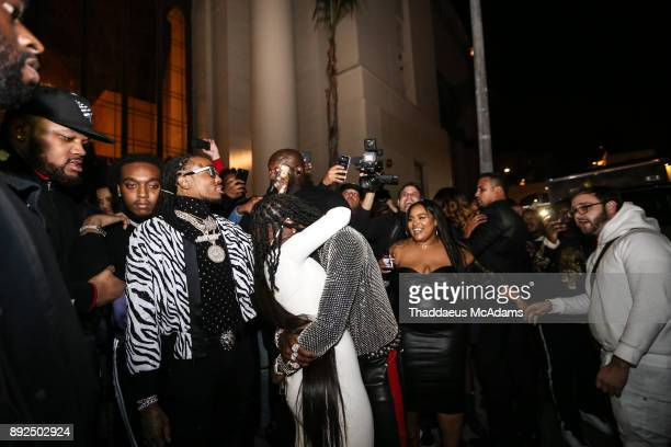 Cardi B and Offset at The Set Gala at The MacArthur on December 13 2017 in Los Angeles California