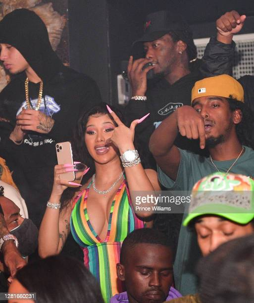 Cardi B and Offset attend Chaos Tuesday Nights at Red Martini on October 20, 2020 in Atlanta, Georgia.