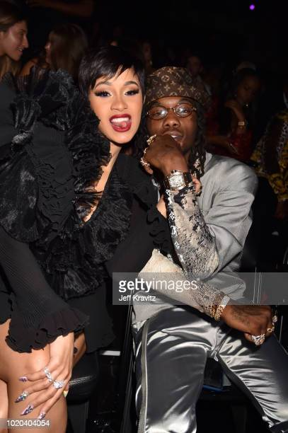 Cardi B and Offset attend the 2018 MTV Video Music Awards at Radio City Music Hall on August 20 2018 in New York City