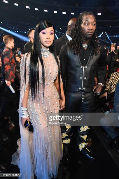 Cardi B and Offset attend the 62nd Annual GRAMMY Awards at STAPLES Center on January 26 2020 in Los Angeles California