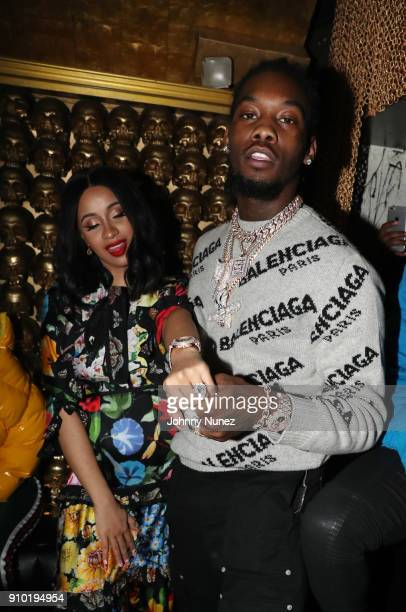 Cardi B and Offset attend the Migos 'Culture II' Album Listening Event at Gold Bar on January 24 2018 in New York City