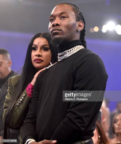 Cardi B and Offset attend the PreGRAMMY Gala and GRAMMY Salute to Industry Icons Honoring Sean Diddy Combs on January 25 2020 in Beverly Hills...