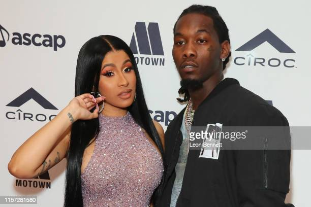 Cardi B and Offset attens 2019 ASCAP Rhythm Soul Music Awards at the Beverly Wilshire Four Seasons Hotel on June 20 2019 in Beverly Hills California