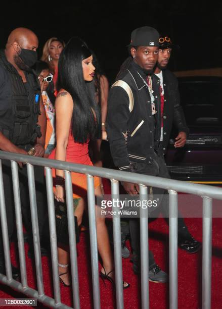 Cardi B and Offset of Migos attend Allure Monday Nights at Allure Gentlemen's Club on October 12, 2020 in Atlanta, Georgia.