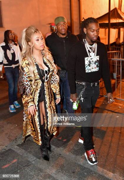 Cardi B and Offset of The Group Migos attend All Star Weekend Migos Album Release Party at Boulevard3 on February 19 2018 in Hollywood California