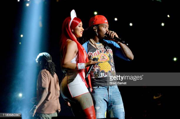 Cardi B and Offset perform onstage during the Power 1051'S Powerhouse 2019 presented by ATT at Prudential Center on October 26 2019 in Newark New...