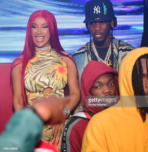 Cardi B and Offset sighted at Red Martini Nightclub on October 13, 2020 in Atlanta, Georgia.