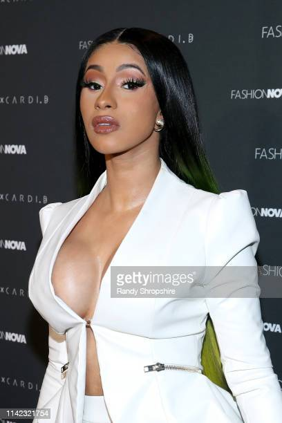 Cardi B arrives as Fashion Nova Presents Party With Cardi at Hollywood Palladium on May 8 2019 in Los Angeles California