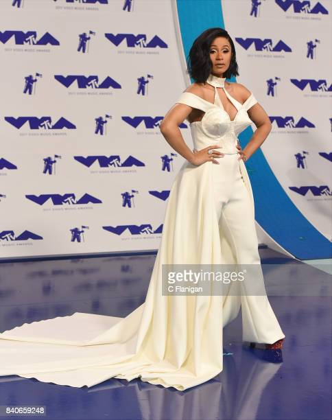 Cardi B arrives at the 2017 MTV Video Music Awards at The Forum on August 27 2017 in Inglewood California