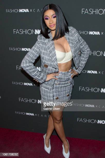 Cardi B arrives for Fashion Nova x Cardi B Collaboration Launch Event at Boulevard3 on November 14 2018 in Hollywood California