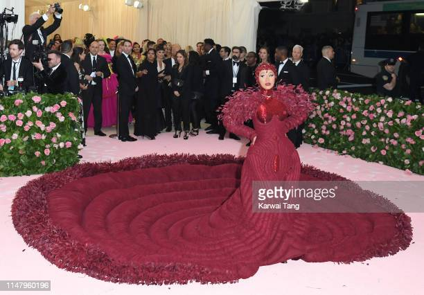 Cardi B arrives for the 2019 Met Gala celebrating Camp: Notes on Fashion at The Metropolitan Museum of Art on May 06, 2019 in New York City.