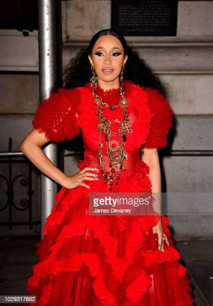 Cardi B arrives to Harper's BAZAAR ICONS at The Plaza Hotel on September 7, 2018 in New York City.