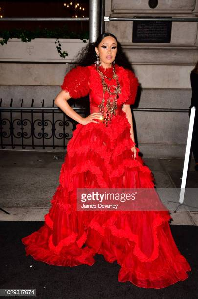 Cardi B arrives to Harper's BAZAAR ICONS at The Plaza Hotel on September 7 2018 in New York City