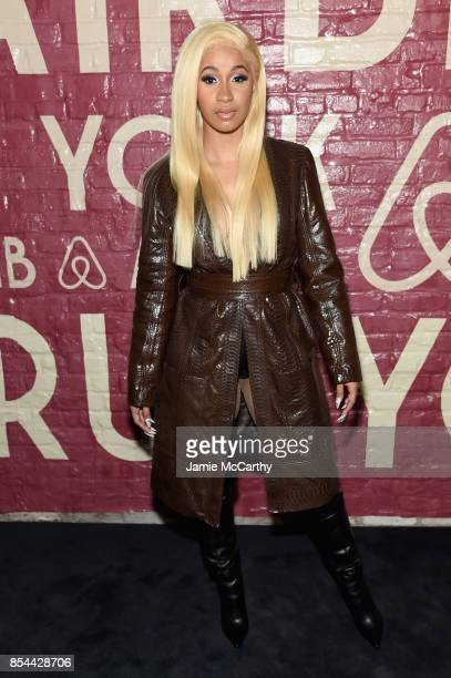 Cardi B attends Airbnb's New York City Experiences Launch Event on September 26 2017 in the Brooklyn borough of New York City City