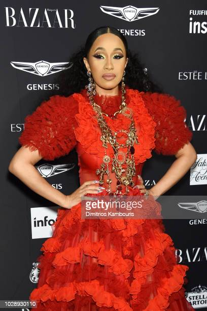 Cardi B attends as Harper's BAZAAR Celebrates ICONS By Carine Roitfeld at the Plaza Hotel on September 7 2018 in New York City