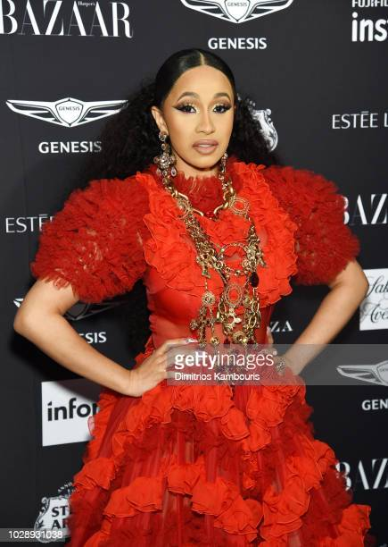 "Cardi B attends as Harper's BAZAAR Celebrates ""ICONS By Carine Roitfeld"" at the Plaza Hotel on September 7, 2018 in New York City."