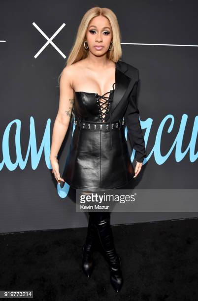 Cardi B attends GQ's 2018 AllStars Celebration at Nomad Hotel Los Angeles on February 17 2018 in Los Angeles California
