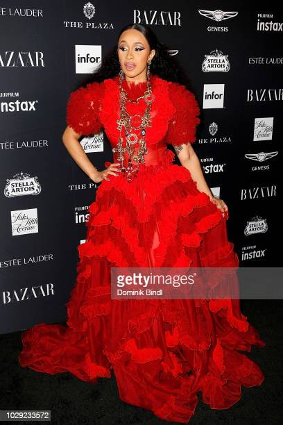 Cardi B attends Harper's BAZAAR Celebrates 'ICONS By Carine Roitfeld' at The Plaza Hotel on September 7 2018 in New York City