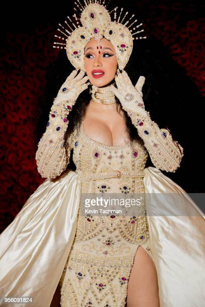 Cardi B attends Heavenly Bodies Fashion The Catholic Imagination Costume Institute Gala at The Metropolitan Museum of Art on May 7 2018 in New York...