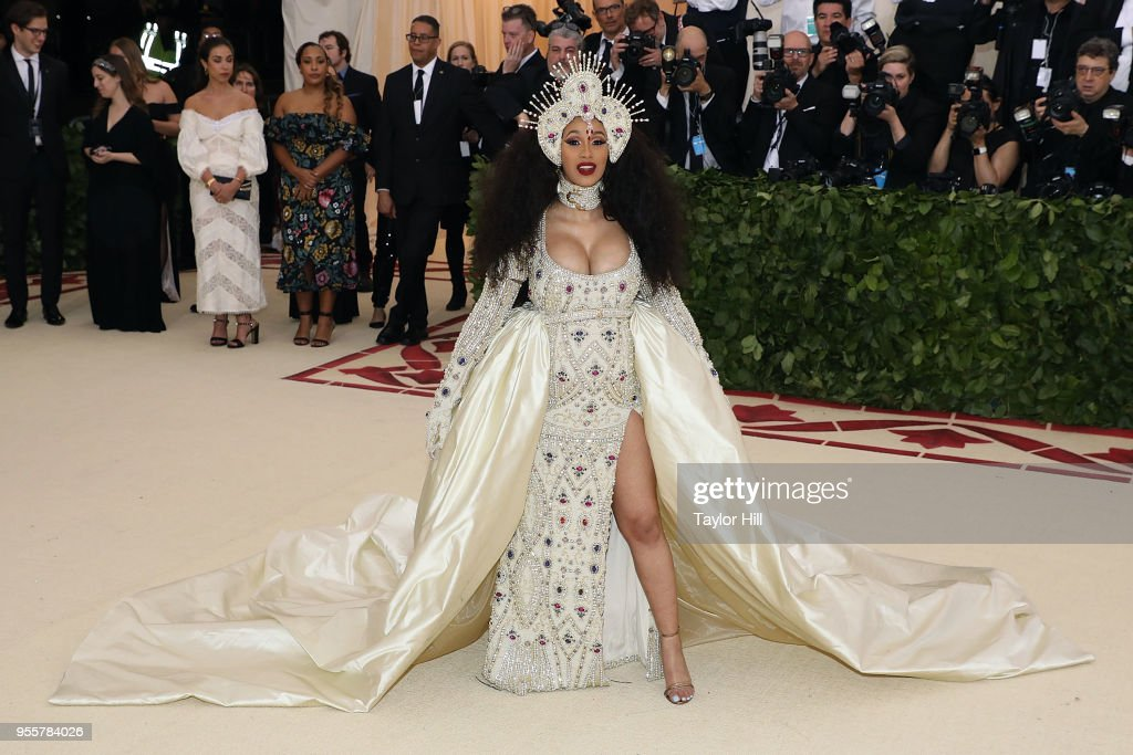 Cardi B attends 'Heavenly Bodies: Fashion & the Catholic Imagination', the 2018 Costume Institute Benefit, at Metropolitan Museum of Art on May 7, 2018 in New York City.