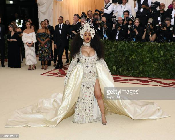 Cardi B attends Heavenly Bodies Fashion the Catholic Imagination the 2018 Costume Institute Benefit at Metropolitan Museum of Art on May 7 2018 in...