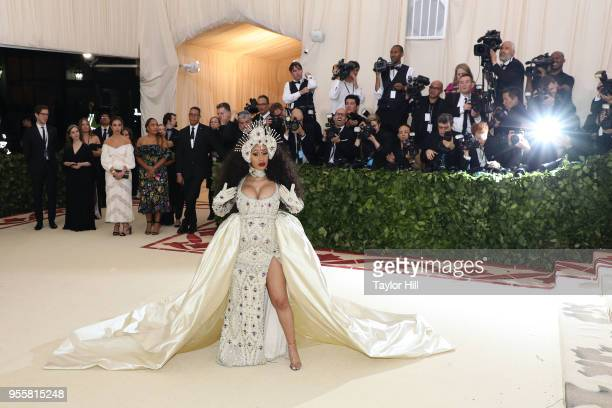 Cardi B attends 'Heavenly Bodies Fashion the Catholic Imagination' the 2018 Costume Institute Benefit at Metropolitan Museum of Art on May 7 2018 in...