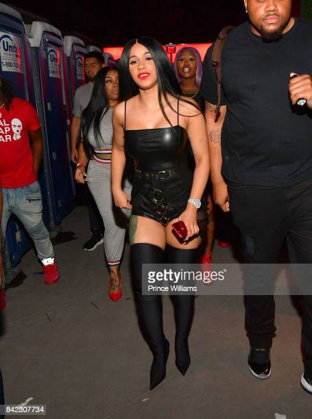 Cardi B attends Luda birthday celebration at Compound on September 3 2017 in Atlanta Georgia