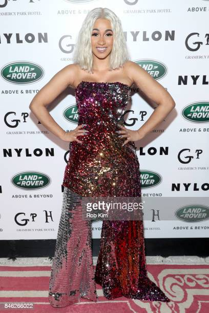 Cardi B attends NYLON's Rebel Fashion Party powered by Land Rover at Gramercy Terrace at Gramercy Park Hotel on September 12 2017 in New York City
