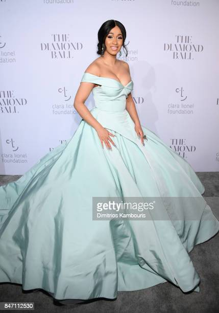 Cardi B attends Rihanna's 3rd Annual Diamond Ball Benefitting The Clara Lionel Foundation at Cipriani Wall Street on September 14 2017 in New York...