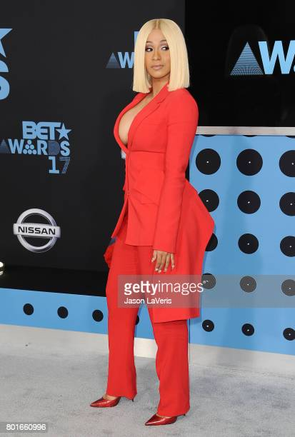 Cardi B attends the 2017 BET Awards at Microsoft Theater on June 25 2017 in Los Angeles California