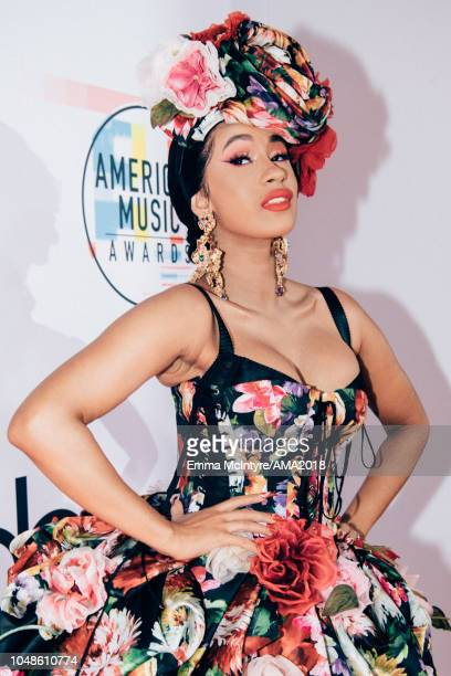 Cardi B attends the 2018 American Music Awards Microsoft Theater on October 9, 2018 in Los Angeles, California.