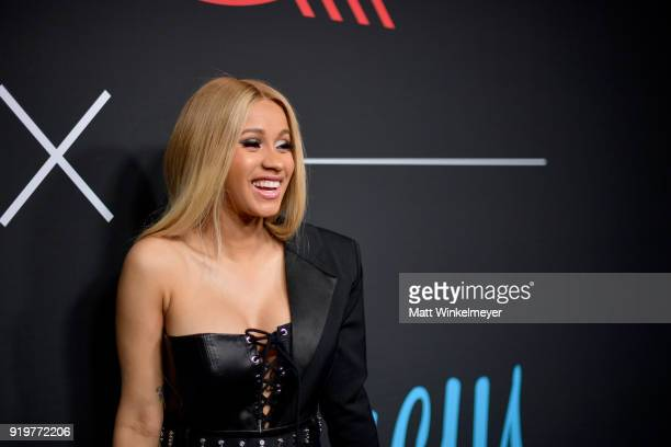 Cardi B attends the 2018 GQ x Neiman Marcus All Star Party at Nomad Los Angeles on February 17 2018 in Los Angeles California