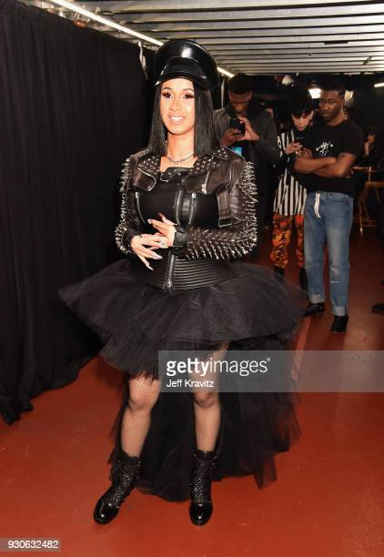 Cardi B attends the 2018 iHeartRadio Music Awards which broadcasted live on TBS TNT and truTV at The Forum on March 11 2018 in Inglewood California