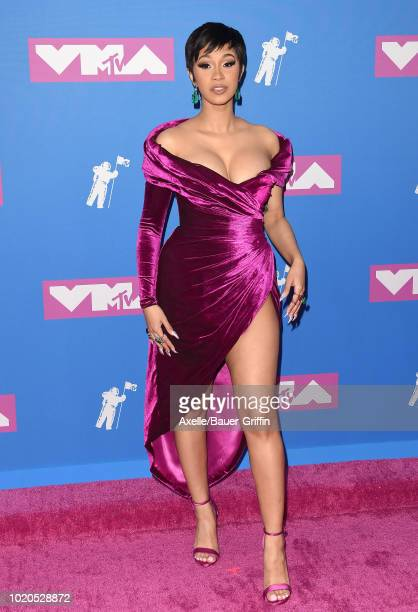 Cardi B attends the 2018 MTV Video Music Awards at Radio City Music Hall on August 20 2018 in New York City