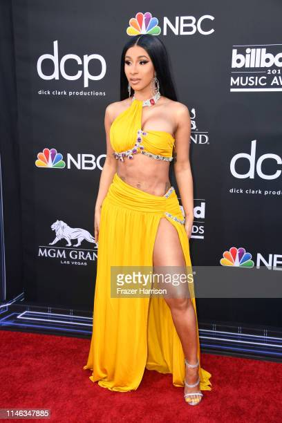 Cardi B attends the 2019 Billboard Music Awards at MGM Grand Garden Arena on May 01 2019 in Las Vegas Nevada