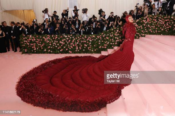 Cardi B attends the 2019 Met Gala celebrating Camp Notes on Fashion at The Metropolitan Museum of Art on May 6 2019 in New York City
