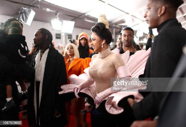 Cardi B attends the 61st Annual GRAMMY Awards at Staples Center on February 10 2019 in Los Angeles California