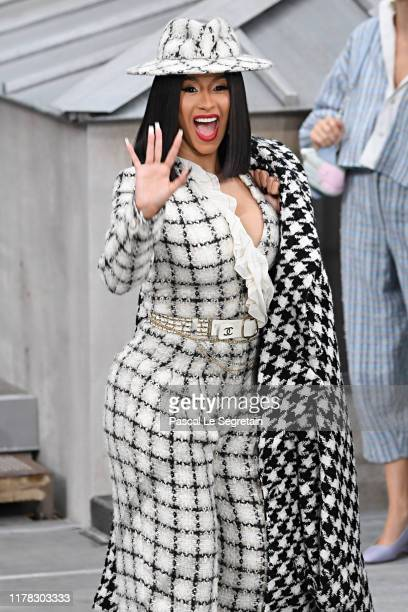 Cardi B attends the Chanel Womenswear Spring/Summer 2020 show as part of Paris Fashion Week on October 01 2019 in Paris France