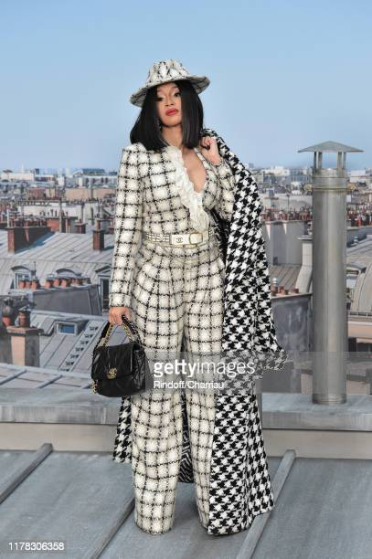 Cardi B. Attends the Chanel Womenswear Spring/Summer 2020 show as part of Paris Fashion Week on October 01, 2019 in Paris, France.