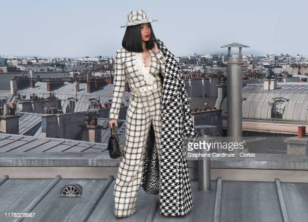 Cardi B attends the Chanel Womenswear Spring/Summer 2020 show as part of Paris Fashion Week on October 01, 2019 in Paris, France.
