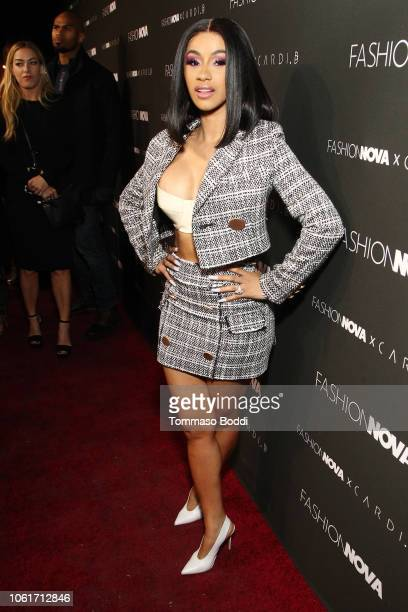 Cardi B attends the Fashion Nova x Cardi B Collaboration Launch Event at Boulevard3 on November 14 2018 in Hollywood California