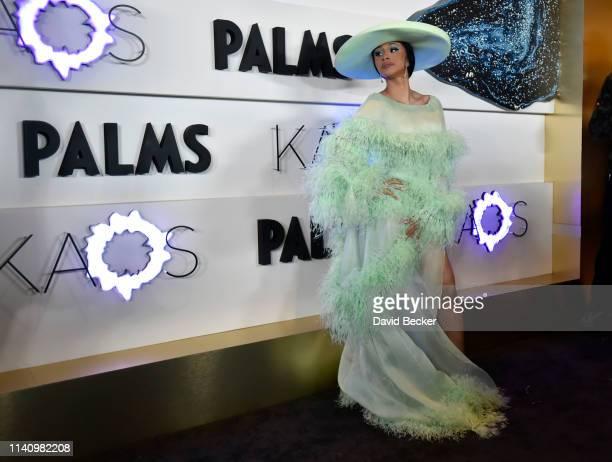 Cardi B attends the grand opening of KAOS Dayclub Nightclub at Palms Casino Resort on April 06 2019 in Las Vegas Nevada