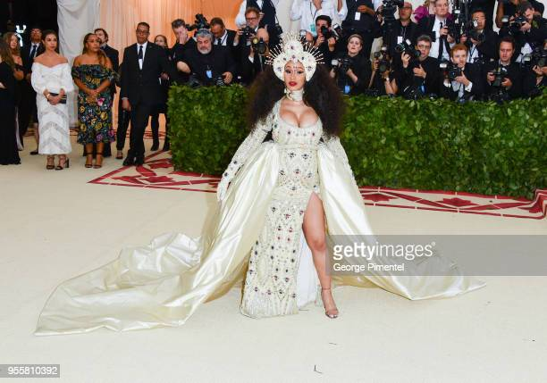 Cardi B attends the Heavenly Bodies Fashion The Catholic Imagination Costume Institute Gala at Metropolitan Museum of Art on May 7 2018 in New York...